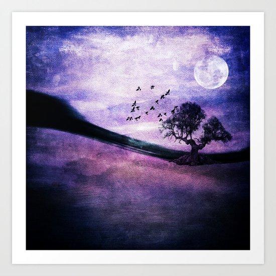Purple landscape Art Print