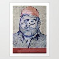 austin Art Prints featuring Austin by Vin Zzep