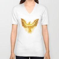 phoenix V-neck T-shirts featuring Phoenix by Roma