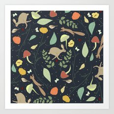 Woodland Pattern I Art Print