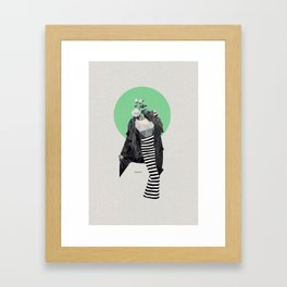 Retro Fashion Framed Art Print