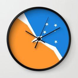 Flag of Tierra del Fuego Wall Clock