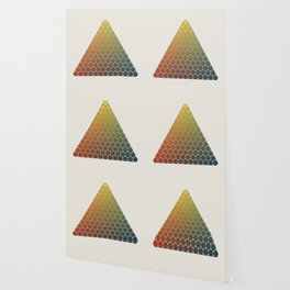 Lichtenberg-Mayer Colour Triangle vintage remake, based on Mayers' original idea and illustration Wallpaper