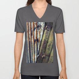 Corrugated  Unisex V-Neck