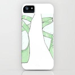 Ballet Pumps: Green iPhone Case