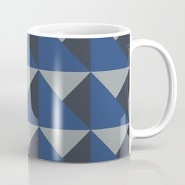 Blue + Gray Origami Geo Tile Coffee Mug
