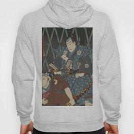 2 Samurais (Japanese soldiers) Ukiyo-e Hoody