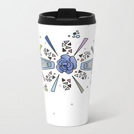geometric flower crown Metal Travel Mug