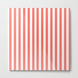 LIVING CORAL STRIPES PANTONE COLOR OF THE YEAR 2019 Metal Print