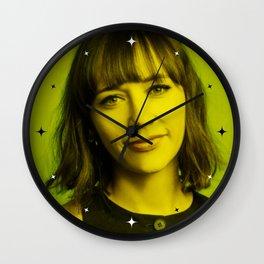 Rashida Jones - Celebrity (Florescent Color Technique) Wall Clock