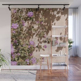 Lila Flowers In The Sun Summer Photo   Colorful Floral Travel Photography In France Art Print   Colors Of Europe Wall Mural