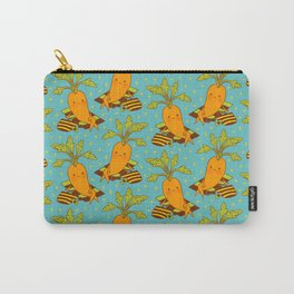 Cute Carrot on Vacation Chilling at the Beach Feeling Relax Carry-All Pouch