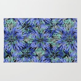 Modern Nature Print Pattern Rug