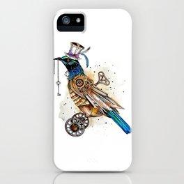 Steampunk Tui Bird  iPhone Case