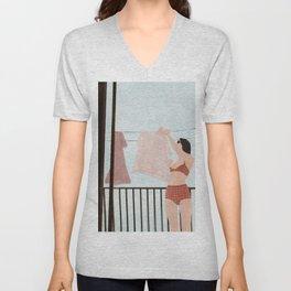 Hanging Clothes Unisex V-Neck