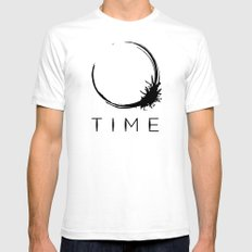 Arrival - Time Black SMALL Mens Fitted Tee White