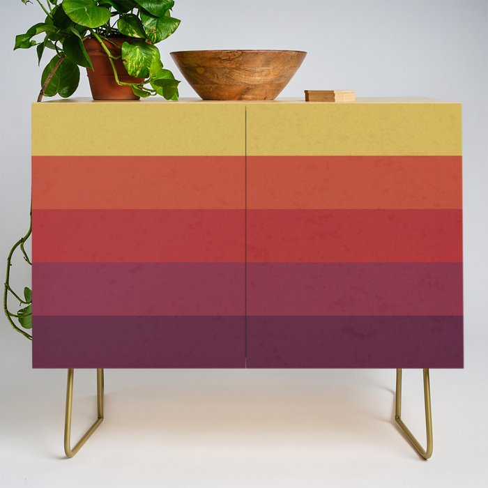 Retro Video Cassette Color Palette Credenza