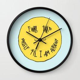 YELLOW OSTRICH Wall Clock