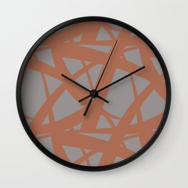 Cavern Clay SW 7701 Abstract Mosaic Pattern 3 on Slate Violet Gray SW9155 Wall Clock