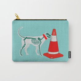 DOG SNIFING TRAFFIC RUBBER CONE Carry-All Pouch
