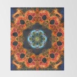 Fiery barnacle kaleidoscope Throw Blanket