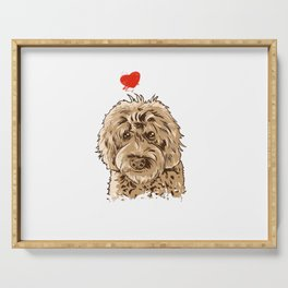 Cute I Love My Goldendoodle Gift Golden Doodle Print Serving Tray