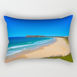 Blue Beach Rectangular Pillow