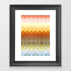 Half Circles Waves Color Framed Art Print