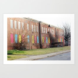Colorful Abandoned Building Art Print