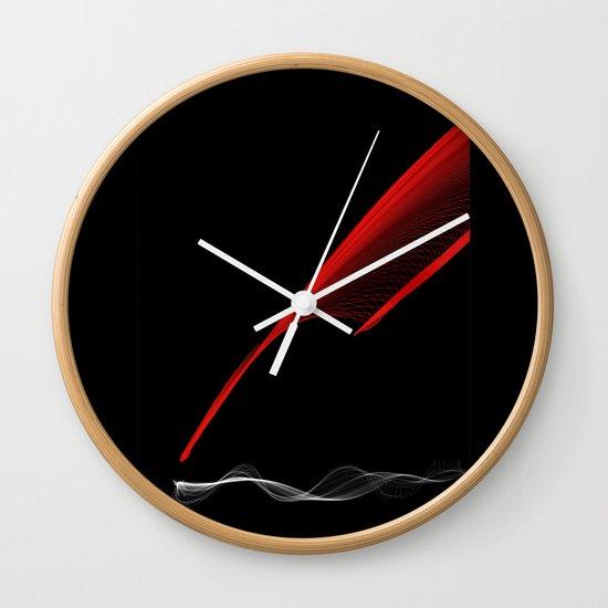 SilveRed Wall Clock