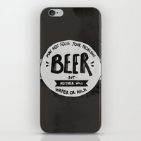 beer iPhone & iPod Skins featuring Beer by Juliana Rojas | Puchu