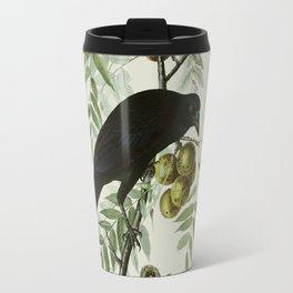 Vintage Crow Illustration Travel Mug