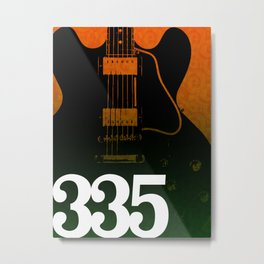 Guitar Enthusiast Series – 335 Metal Print