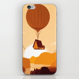 Flying House iPhone Skin