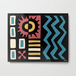 Solar Sunburst Composition Metal Print