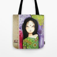 indian Tote Bags featuring Indian by ByCabotine