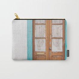 Rustic Door Print #doorprint #door #blueart Carry-All Pouch
