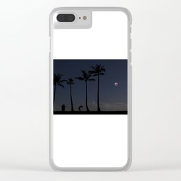 Super Blood Wolf Moon Eclipse Over Kahala. Clear iPhone Case