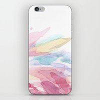 Pink Flamingo Soft Feathers Pastel Watercolor Texture iPhone & iPod Skin