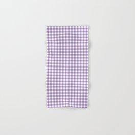 Geometric modern violet white checker stripes pattern Hand & Bath Towel
