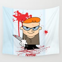 dexter Wall Tapestries featuring Dexter by Gianluca Gentile