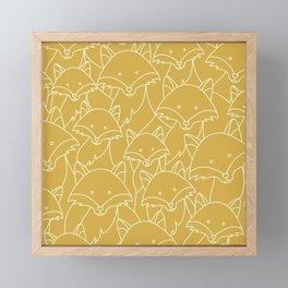 Minimalist Red Fox Framed Mini Art Print