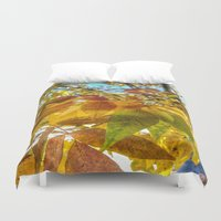 camus Duvet Covers featuring Autumn Leaves by Geni