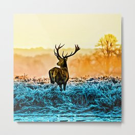 Deer Sunhine Metal Print