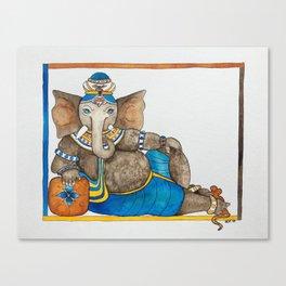 Reclining Ganesha Canvas Print