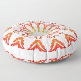 Fiery Mandala Floor Pillow