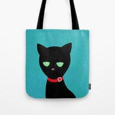 cat -Black cat Tote Bag