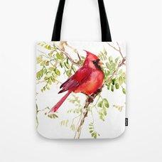 VIDA Tote Bag - Cardinal in Flight by VIDA
