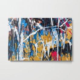Dripping paint wall Metal Print