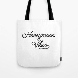 Honeymoon Vibes Newlywed Design Tote Bag